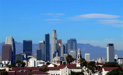 icons   los angeles downtown skyline     flickr