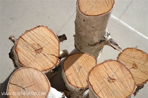 diy how to make a set of tree stump candle holders for the
