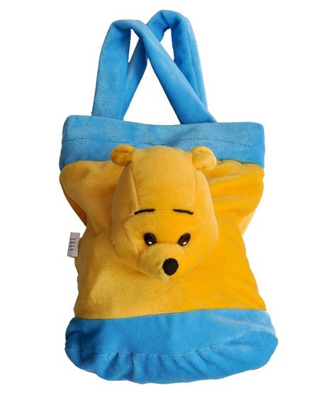 Bag With Teddy Funnyland Fabric Teddy Bag Yellow Blue Available At