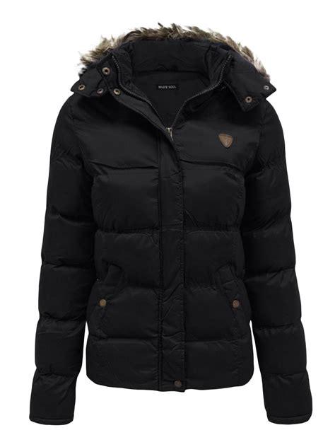 Jaket Winter Winter Coat Jaket Parka 58 womens quilted padded puffer parka jacket fur hooded warm winter coat ebay