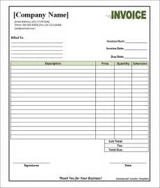 invoice template blank best photos of blank sle invoice template blank