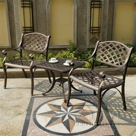 piece cast aluminum durable outdoor chair  table