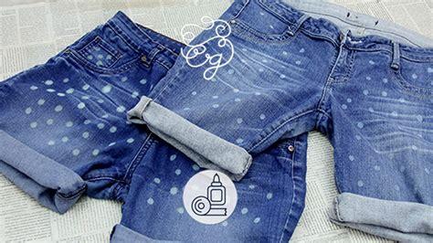 como decorar jeans con cloro diy shorts con jeans viejos craftingeek youtube