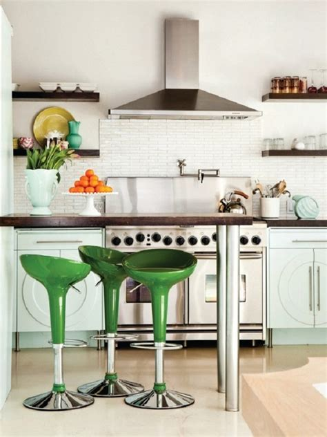 green stools modern design home decor kitchen how to