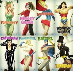 superheroinas villanas comics marvel dc