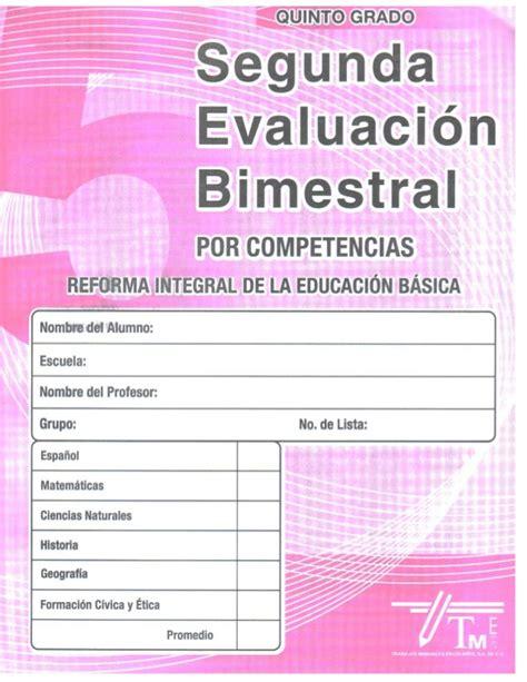 examen 2do bim primer grado editorial 1 ptslidesharenet examen 2do bim quinto grado por competencias