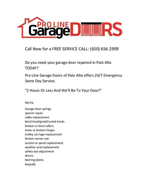 Garage Door Repair Palo Alto Garage Door Repair Palo Alto