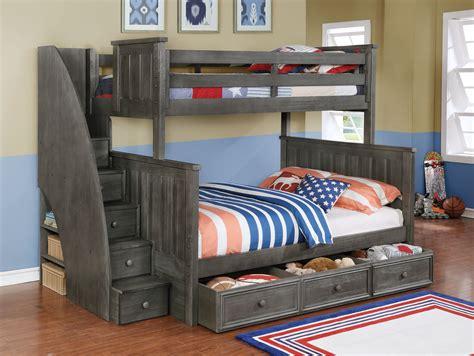 jackson twin  full bunk bed white espresso rustic