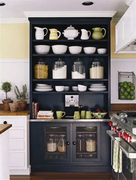 kitchen cupboard interior storage kitchenkitchens design open shelves built in black