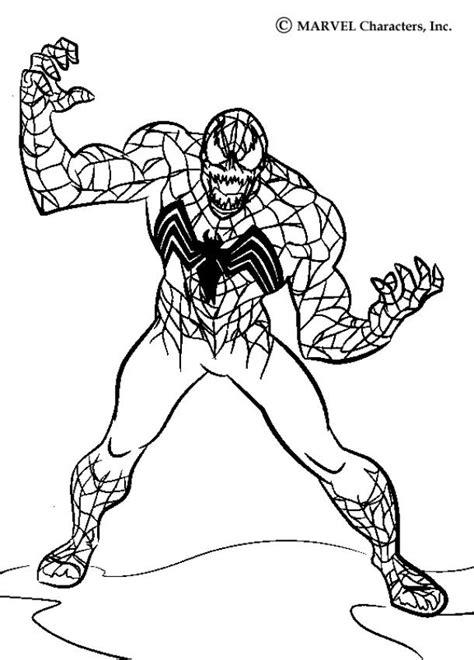 spider man coloring pages venom colorist pinterest