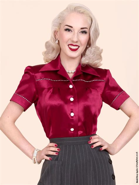 Jojo Blouse jojo blouse burgundy crepe satin from vivien of holloway