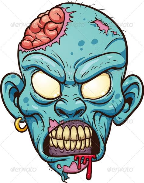imagenes geniales de zombies graphicriver cartoon zombie head 4982793 zombee
