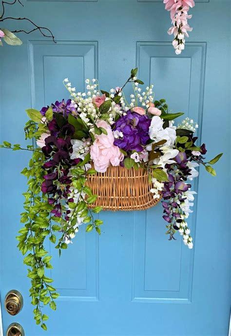decorate  front door  spring diy