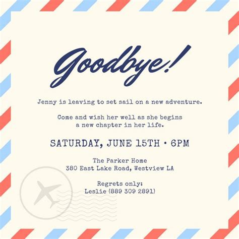 Farewell Invitation Cards Templates by Farewell Invitation As Your Ideas Lifyer