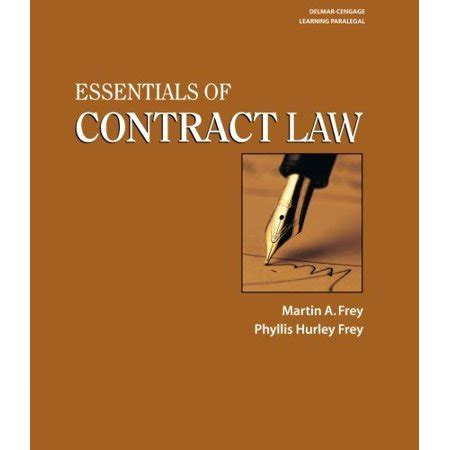 Essentials Of Contract Law Walmart Com