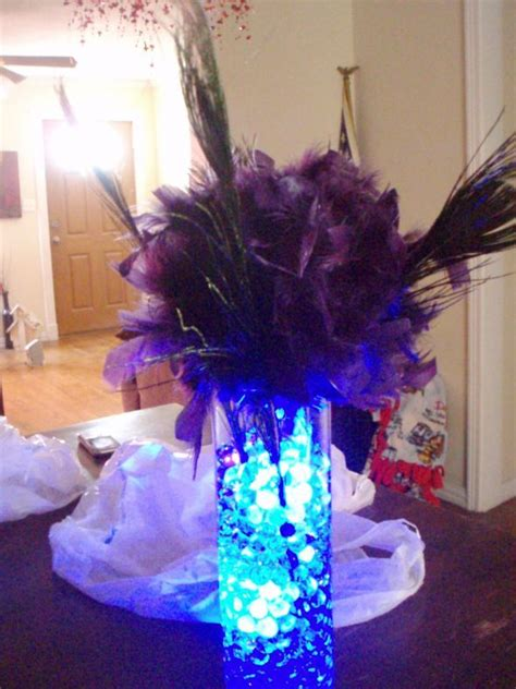 Purple And Blue Feather Wedding Centerpieces Ipunya Blue And Purple Centerpieces For Weddings