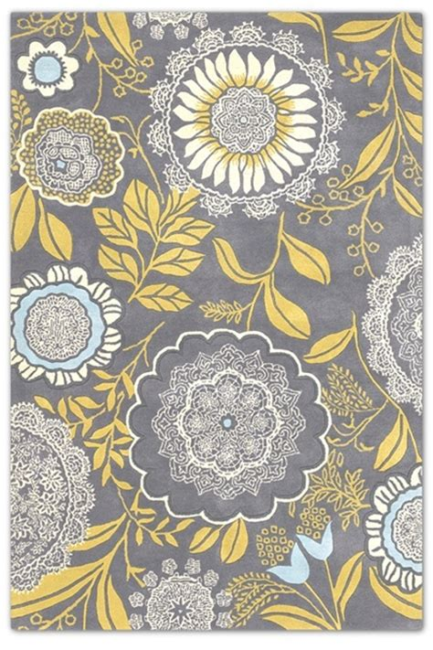 Grey And Yellow Rugs by Grey Yellow Area Rug 5x7 Home