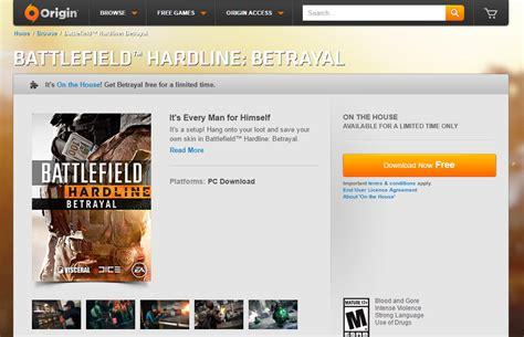 origin on the house origin on the house battlefield hardline betrayal expansion pack free simsvip