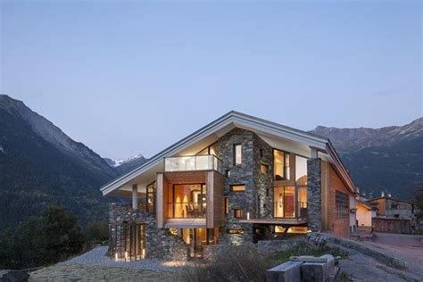 home in the mountains mountain house inspired by the neighboring rough landscape