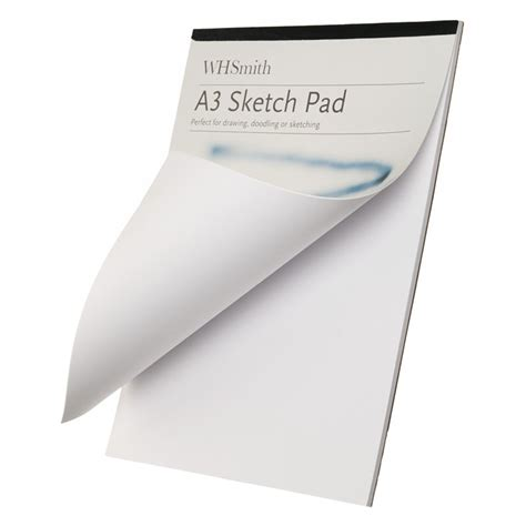 free drawing pad whsmith a3 sketch pad with acid free white leaves 135 gsm