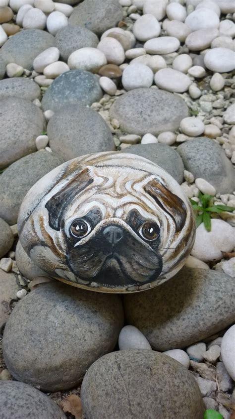 pug voice pebble pug rock pugs painted rocks pug rock pug painted rock painting