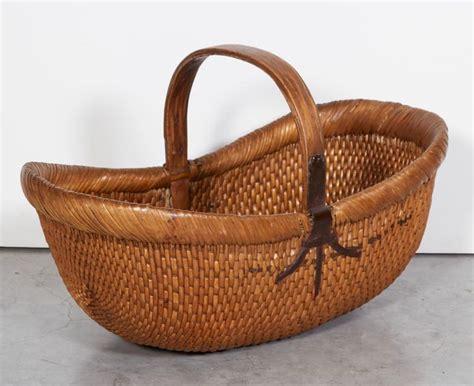 Handmade Flower Baskets - handmade antique willow flower basket for sale at 1stdibs