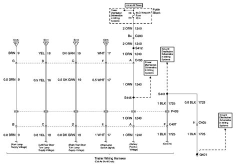 trailer wiring harness diagram 2001 chevy venture