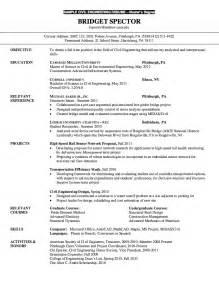 Ma Resume Exles by Resume For Master Degree Civil Engineering Http Resumesdesign Resume For Master Degree