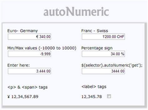 javascript number format currency jquery numeric format jquery plugins