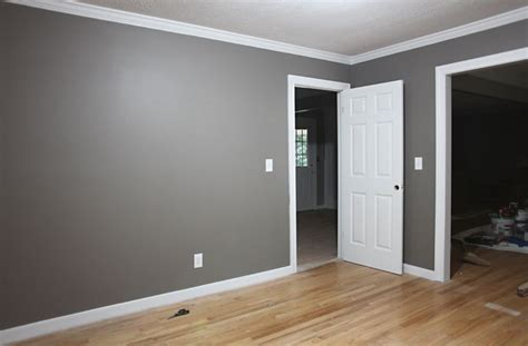 Grey Walls With Wood Floors by Grey Walls White Trim I Think I Like That Leave The