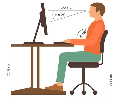 Proper Computer Desk Height Correct Height For Computer Desk Office Chair Considerations For And Computer