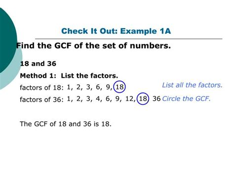 finding prime factors of n and their multiplicities ppt 4 3 greatest common factors gcf powerpoint