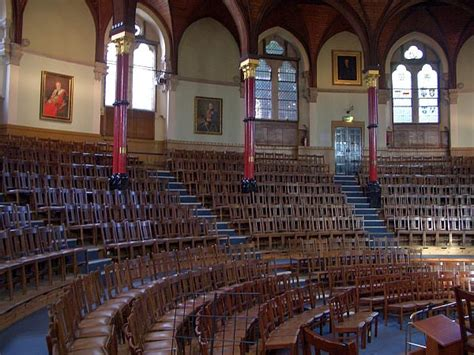 room harrow curved side new speech room harrow school designed by william burges