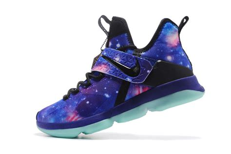 basketball shoes galaxy humanized nike lebron 14 id premium purple galaxy black