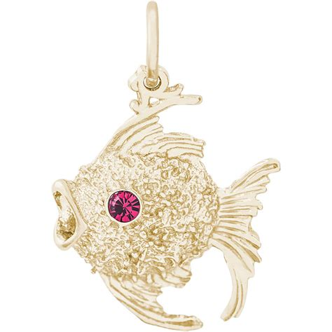 fish charm gold plated 10 2641
