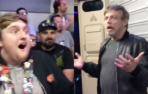 what to get a star wars fan watch mark hamill surprise star wars fans at disneyland
