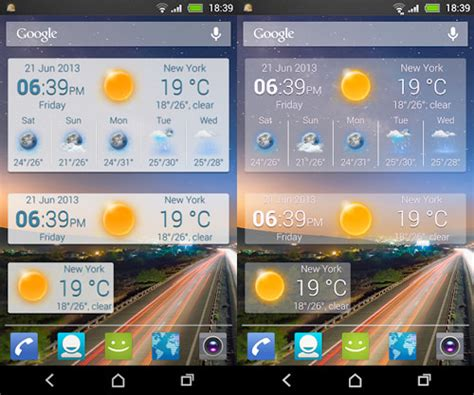weather apps for android 20 beautiful weather widgets for your android home screens hongkiat