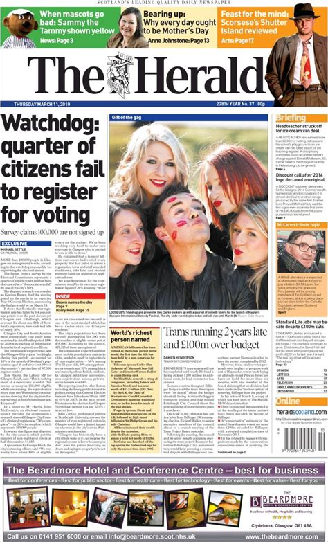 Heralded By The Herald by Newspaper The Herald United Kingdom Newspapers In