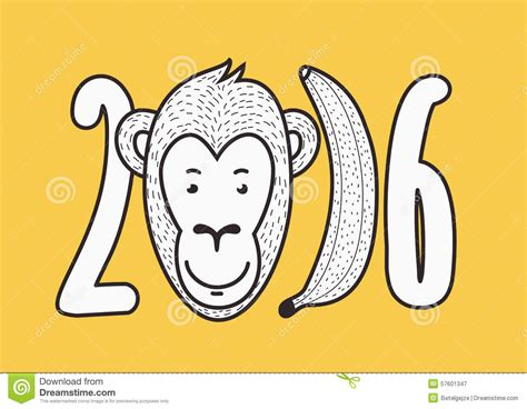 new year monkey pictures to print 2016 happy new year vector creative greeting card