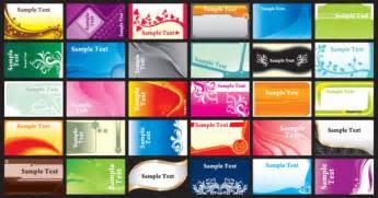 brilliant color business card template vectors download