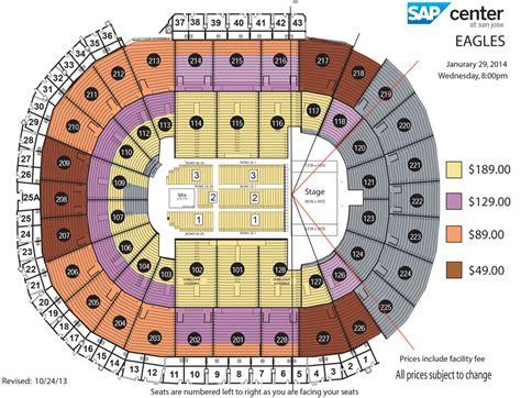 sap center seating chart the eagles sap center