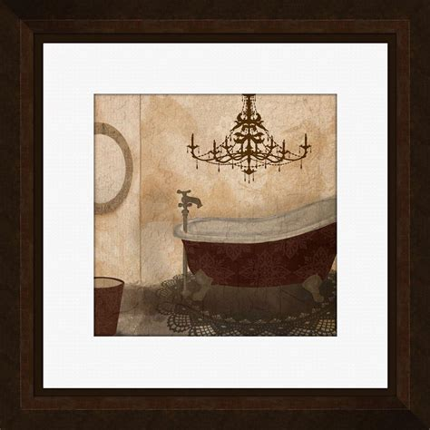 framed art for bathroom walls ptm images 21 1 4 in x 21 1 4 in quot red guest bathroom b