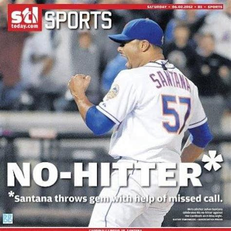 st louis post dispatch st louis sports news st louis newspaper gives asterisk to met no no ny daily