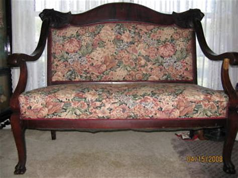 antique settee prices antique settee loveseat and 2 armchairs lions head