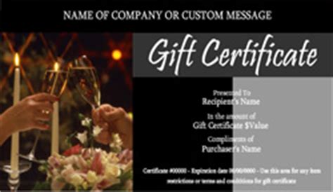 Restaurant Gift Certificate Templates Easy To Use Gift Certificates Restaurant Gift Certificate Template