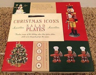 Christmas Barn Pictures Williams Sonoma Christmas Icons Plates 4 New Gingerbread