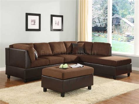 micro fiber sectional chocolate microfiber sectional sofa set with chaise