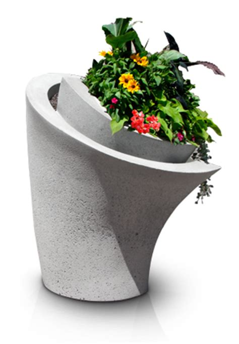 Wrap Around Planter by Wrap Series Planters Concrete Planters Belson Outdoors