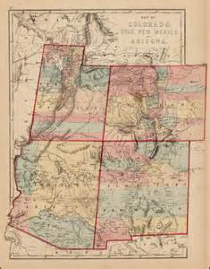 map of colorado utah new mexico and arizona barry