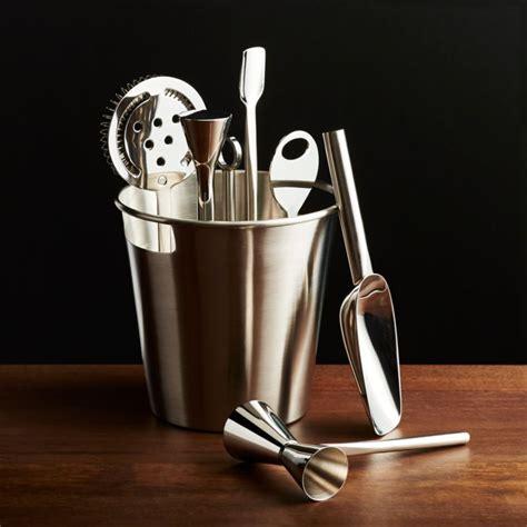 Bar Tool Set Silver   Reviews   Crate and Barrel